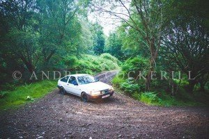 Andrew Cockerill Photography catching Mark Jukes & Dafydd Sion Lloyd through the trees