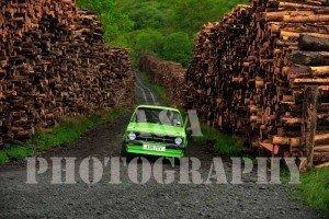 Hugo Carey & Bronwen Carey making their way through the Classic Tracks log piles by A&A Photography
