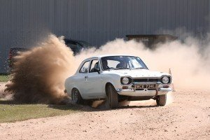 John Ruddock & Andy Pullan kicking up some dust on the East Anglian Classic by M&H Photography