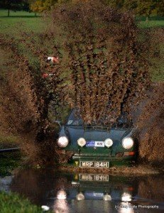 Paul Crosby & Andy Fish trying to give Jucy Rally Photography a muddy shower